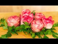 How to Make a Daikon Flower Garnish - YouTube