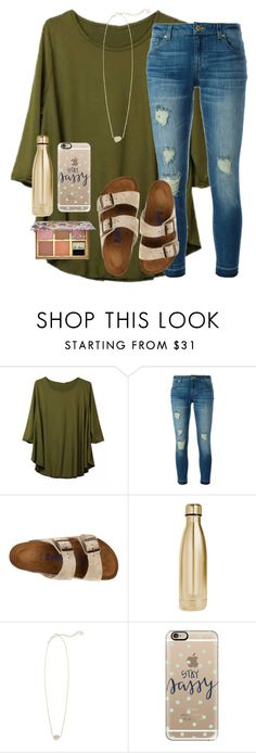 """""""600+ followers"""" by emmagracejoness ❤ liked on Polyvore featuring MICHAEL Michael Kors, Birkenstock, S'well, Kendra Scott, Casetify and Benefit"""