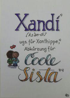 Xandi, coole Sista hand lettering Hand Lettering, Calligraphy, Lettering, Handwriting, Calligraphy Art, Hand Drawn Type, Hand Type, Hand Lettering Art, Letters