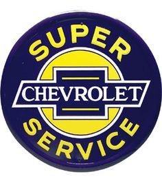 Chevrolet Super Service Tin Sign