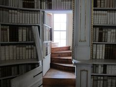 The Secret Passage - It's so amazing to see a hidden room inside the Admont Abbey Library in Australia. Having a secret passage makes for a quick transfer from getting out bed to using the washroom, and snuggling up reading a book.