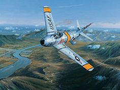 Retro Brit: Death of a Soviet Flying Ace (Casey Jones of Korean War) Military Jets, Military Aircraft, Fighter Aircraft, Fighter Jets, Sabre Jet, Reactor, Flying Ace, Airplane Art, Aircraft Pictures