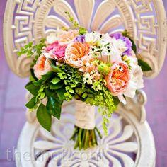 Real Weddings - A Casual Outdoor Wedding in Savannah, GA - Garden-fresh Bouquet