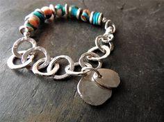 Artisan Handmade Bracelet Turquoise and Silver Bracelet