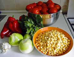 Salsa, Vegetables, Food, Red Peppers, Essen, Vegetable Recipes, Salsa Music, Meals, Yemek