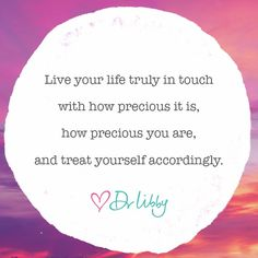 Live your life truly in touch | Dr Libby