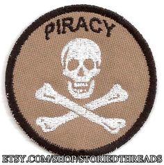 La piratería Geek mérito distintivo parche