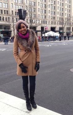 Alicia Quarles looked so great covering the Presidential Inauguration parade in her Joan of Arctic Wedges. #SOREL