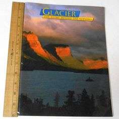 #GlacierNationalPark, Located in northwestern #Montana on the Canadian border, was established in 1910. Canada and the United States expanded the National Park Concept in 1932, when they formed Waterton-Glacier International Peace Park.  Glacier The Story Behind the Scenery, Approx Year/Date: 1993  #Etsy