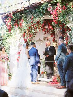 Rancho Las Lomas Featured Wedding Marina Juan Ceremony Featuring Hanging Fls Mccune Photography