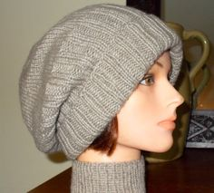 Super Soft! - Djfleesh Big Head Sack Hat Cashmere and Mink - Free Shipping. $65.00, via Etsy.