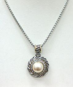 Silver Pearl Pendant Necklace