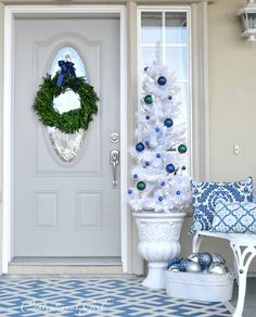 Una navidad blanca y azul