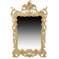 La Barge Italian White Glazed Wood Rococo Wall Mirror   1stdibs.com