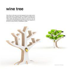 Wine Tree by Ben Nicholson, via Behance #product #wine #tree #arbre #bois #wood