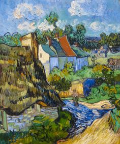 House at Auvers by Vincent Van Gogh. Canvas print is available now at Siempre Studio