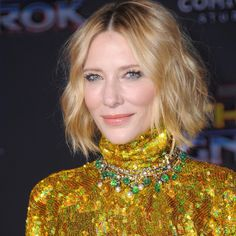 """Fred Leighton on Instagram: """"Layers of 19th Century jewels create a distinctive, sparkling statement. Cate Blanchett at the premiere of """"Thor: Ragnarok."""" #CateBlanchett…"""" • Instagram Celebrity Jewelry, Cate Blanchett, Red Carpet Fashion, Layers, Fashion Jewelry, Sparkle, Jewels, Celebrities, Hair"""