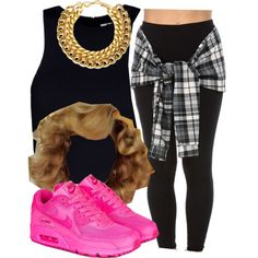 . by trillest-queen on Polyvore featuring T By Alexander Wang, NIKE and A.V. Max
