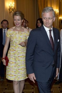 Prince Philippe and Princess Mathilde of Belgium attended a concert with the President of the Republic of Croatia Ivo Josipovic