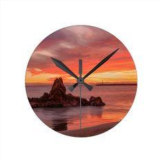 Fiery Gorgeous Sunset Wall Clock