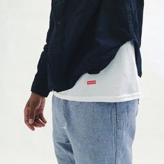 adrianforcompasscomposition:  engineered garments ss15 mil shirt + e-1 pant featuring supreme hanes tee