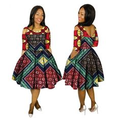 Women Ankara Fashion O-Neck cloth Africa print clothing African Women Ankara Fashion Knee Length O-Neck print Dress African Dresses For Kids, African Fashion Ankara, African Inspired Fashion, Latest African Fashion Dresses, African Dresses For Women, African Print Dresses, African Print Fashion, African Attire, African Women