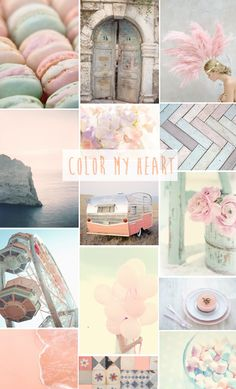inspiration moodboard pastel colors une parisienne sémerveille. For Rose's room... one on each wall