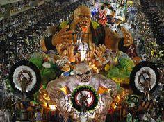 Carnaval 2012 - Desfile da Grande Rio no Sambódromo do Rio de Janeiro.