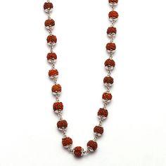 #Chain / Necklace for Men Pure #RUDRAKSHA #Authentic 26 inches Platinum 950 #SSPlatinum #Chain
