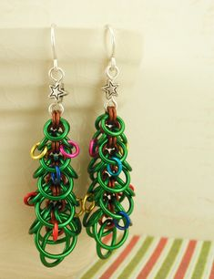Oh Christmas Tree Earring Kit -  Fun for All Skill levels. $30.00, via Etsy.