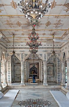 Palace interior, Shivpuri, Madhya Pradesh, India