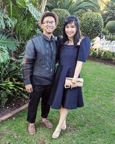 Filipiniana Dress Modern, Barong Tagalog, Fashion Labels, Formal Gowns, Philippines, Sydney, Chiffon, Butterfly, Wedding Ideas