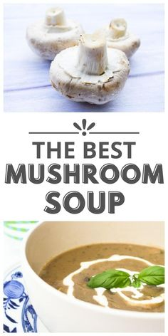 Love mushrooms? You'll love this easy mushroom soup. It has to be the best mushroom soup. Serve it for lunch or dinner and take it with you in a flask. This soup can be frozen. #mushroomsoup #bestmushroomsoup #veganmushroomsoup #dairyfreemushroomsoup #veganmushroomsoup #easysouprecipes #soup #mushrooms #mushroomrecipes #veganlunch Vegan Mushroom Soup, Mushroom Recipes, Vegetable Recipes, Easy Soup Recipes, Side Recipes, Vegan Recipes, Cooking Recipes, Vegan Soups, Kitchen Recipes