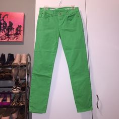 Gap 1969 Bright Green Legging Jean Bright green legging jeans. Stretchy! Ankle length. Perfect condition. GAP Jeans