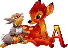 Alfabeto animado de Bambi con Tambor.