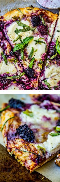 Great Blackberry Ricotta Pizza with Basil from The Food Charlatan // The perfect EASY summer pizza! The post Blackberry Ricotta Pizza with Basil from The Food Charlatan // The perfect EASY … appeared first on Trupsy . Think Food, I Love Food, Food For Thought, Good Food, Yummy Food, Vegetarian Recipes, Cooking Recipes, Healthy Recipes, Pizza Recipes