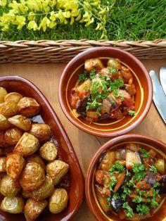 Caponata: Italiaans groentegerecht boordevol smaak. Eenvoudig om te maken. Eet als hoofdgerecht of bijgerecht bij bv BBQ. Valt ook in de smaak bij kinderen!