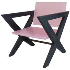 For Sale on - The pink resin chair was inspired by the 'Cross-Easy-Chair' by Pierre Jeanneret originally made from teak and cane work. Designed in India for the building Antique Furniture For Sale, Vintage Furniture, Cool Furniture, Bucket Chairs, Low Chair, Pierre Jeanneret, Mid-century Modern, Contemporary, Accent Chairs For Living Room