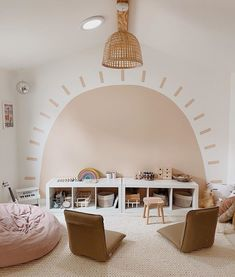What an awesome idea for a playroom!! 📸: @almostmakesperfect Playroom Design, Playroom Decor, Kids Room Design, Playroom Ideas, Playroom Color Scheme, Diy Room Ideas, Toddler Playroom, Playroom Storage, Room Organization