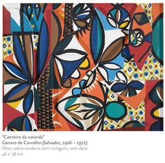 Genaro de Carvalho Born in Salvador. When he was 18 he went to Rio de Janeiro to study drawing at the Sociedade Brasileira de Belas Artes, and at the same time he took part in the mov Rhyme And Reason, Gouache, Abstract Art, Illustration Art, Shapes, Watercolor, Rugs, Drawings, Prints