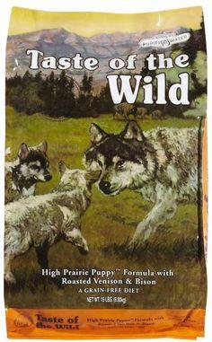 Taste of the Wild Puppy High Prairie pienso para perros. Pienso para perros. Taste of the Wild Puppy High Prairie. Alimento / Comida para perros indicada para perros cachorros de todas las razas y tamaños. Ingrediente principal: Bisonte. En Petclic ahorras mas de un 35% en todas tus compras de piensos y alimentación para perros Todas las garantías. Toda la seguridad que necesitas y mas de 5.000 productos de alimentación rebajados. www.petclic.es