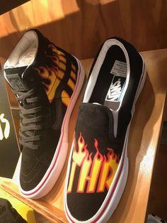 http://SneakersCartel.com Thrasher x Vans Sk8-Hi and Slip-On #sneakers #shoes #kicks #jordan #lebron #nba #nike #adidas #reebok #airjordan #sneakerhead #fashion #sneakerscartel