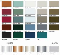 Metal Roofs Color Chart Roof From Armor Roofing