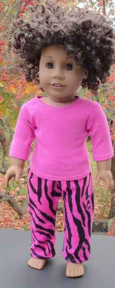American Girl Doll Clothes  Pink Animal Print by SarahAnnDoll, $9.99