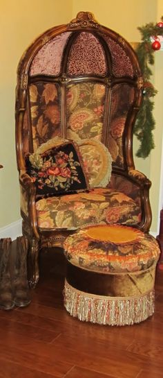 An awesome Canopy Chair & Ottoman!