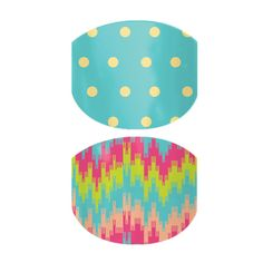Mini Polka and Tropical Mirage  nail wraps by Jamberry Nails www.jessicacauser.jamberrynails.net