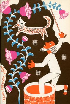 Illustrations for The Hungry Moon: Mexican Nursery Tales (1946) by the Guatemalan artist Carlos Mérida (1891–1984).