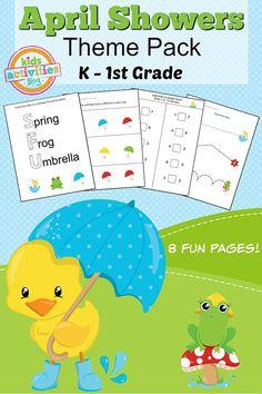 Spring Printable Kindergarten Worksheet Pack