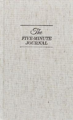 The Five Minute Journal: A Happier You in 5 Minutes a Day by Alex Ikonn,http://www.amazon.com/dp/0991846206/ref=cm_sw_r_pi_dp_ccKhtb1EYEJXC4C1