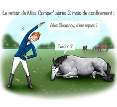 Ceux qui sont impatients de remonter à cheval lèvent la main 💁‍♀️🙆‍♀️ !! Chez @ravene_labo , on imagine la Miss Compèt regonflée à bloc !!! Pas sûr que doudou veuille quitter sa sieste 🐴😂 ⚠️10% de remise avec le code SOONAHORSE2020 ! #Ravene #confinement #cheval #instadraw #instahorse #adada #cavaliere Quitter, Illustrations, Movies, Movie Posters, Toy Block, Horse, Humor, Films, Illustration